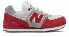 New Balance 574 Resort Sporty Boys Red/Light Grey Lifestyle Shoes (875HJNSKO)