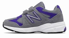 New Balance Hook And Loop 888 Girls Grey/Purple Running Shoes (276OIZETB)